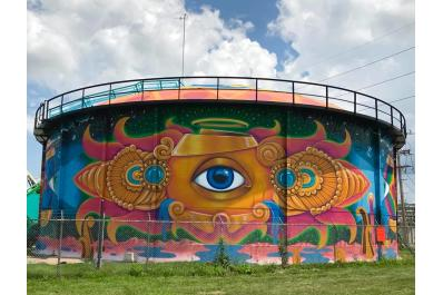 Perpetual Perception - Water Tank Mural