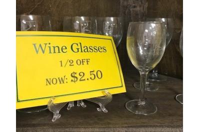 Wine glasses - 12 off