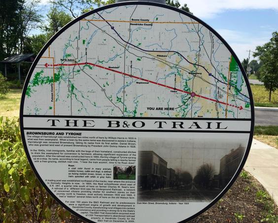 B&O Trail - Trailhead