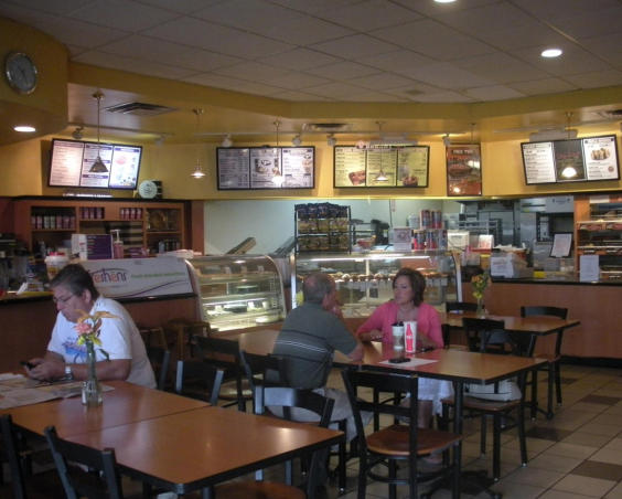 Customers in Big Apple Bagels in Avon Indiana