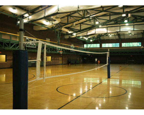 Volleyball courts, rec center