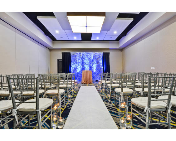 Hadley Ballroom at Embassy Suites Plainfield Indiana - Wedding Set Up