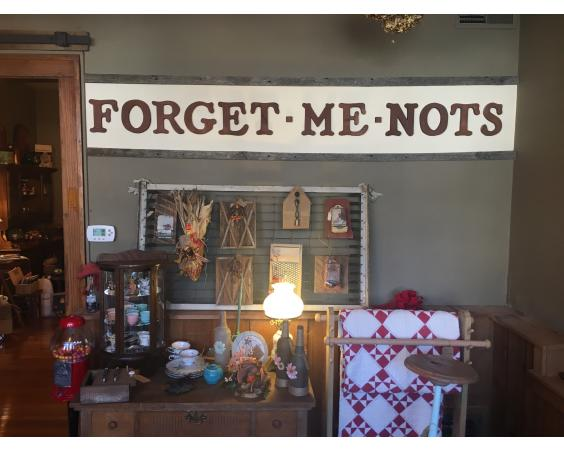 Forget Me Nots sign