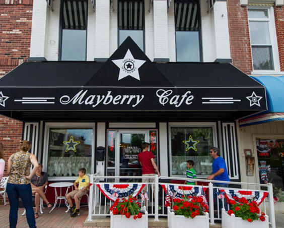 Mayberry Cafe   Exterior in summer