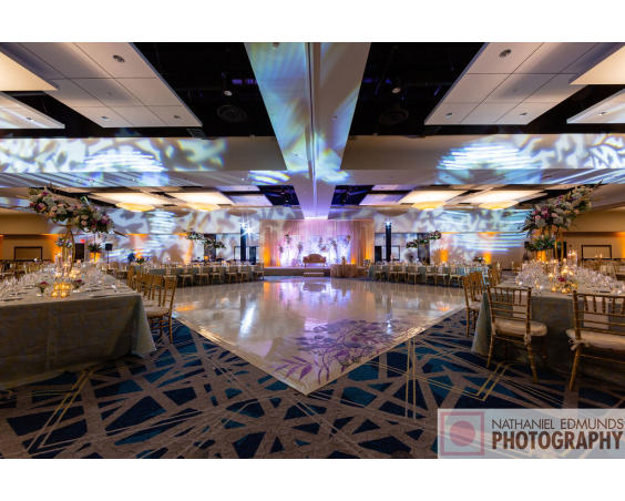 Reception With Dance Floor at Embassy Suites Plainfield Indiana
