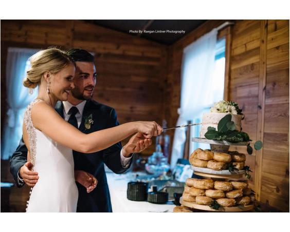 Raegan Lintner Photography - Wedding Cake Cutting