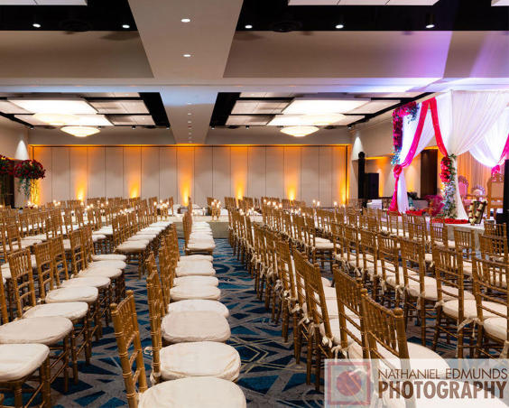 Wedding Ceremony Seating at Embassy Suites Plainfield Indiana