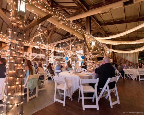 Photography by Sarah Crail - Indoor Wedding Reception