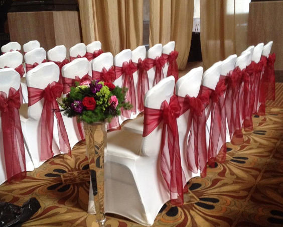 Indy Chair Covers - Wedding Ceremony