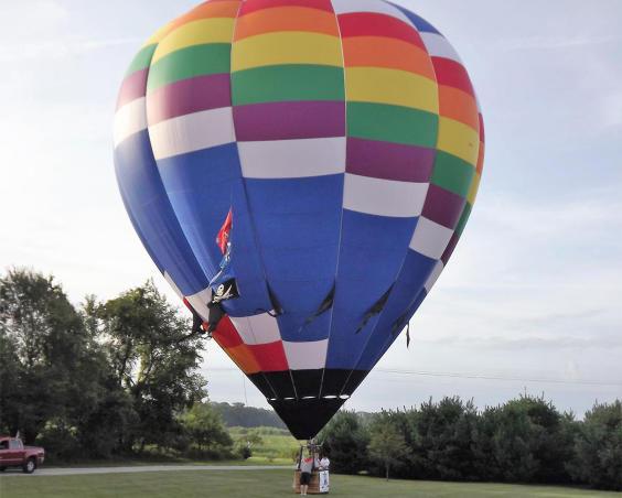 Hoist the Coulors Hot Air Balloon