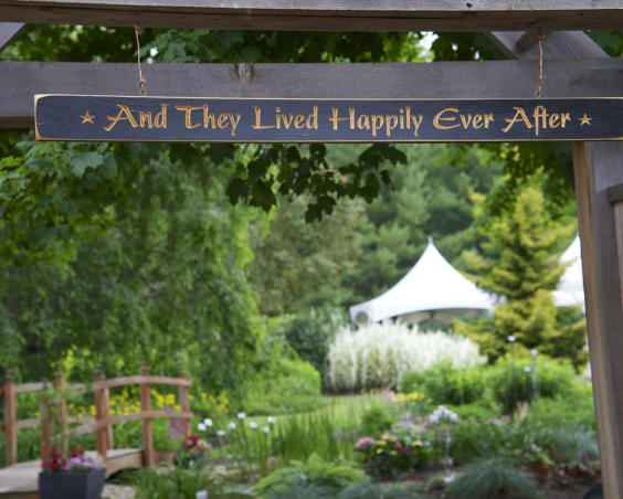 Happily Ever After Sign at Avon Gardens