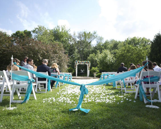 Outdoor Wedding at Avon Gardens
