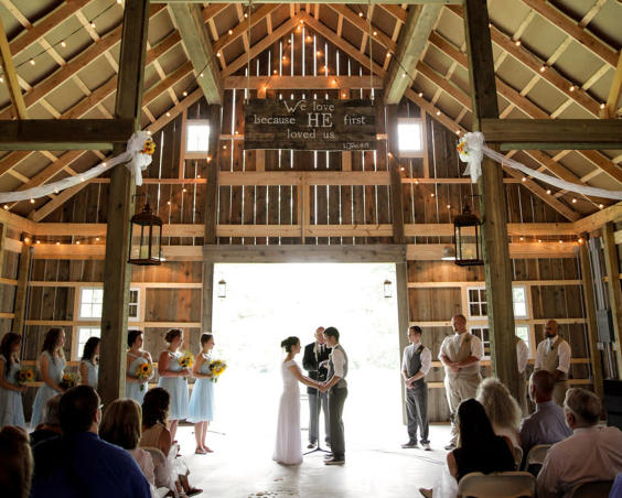 Barn at Kennedy Farm - Indoor Wedding Ceremony