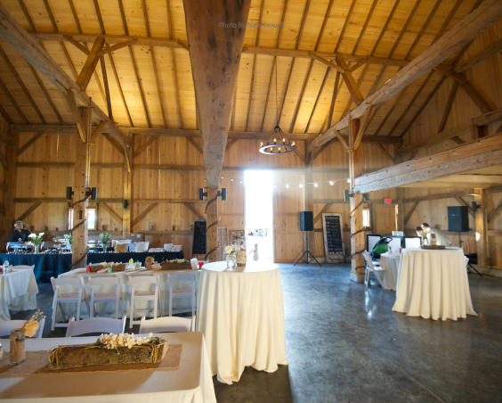 Cartlidge Barn - Indoor Reception Set Up by Nate Crouch