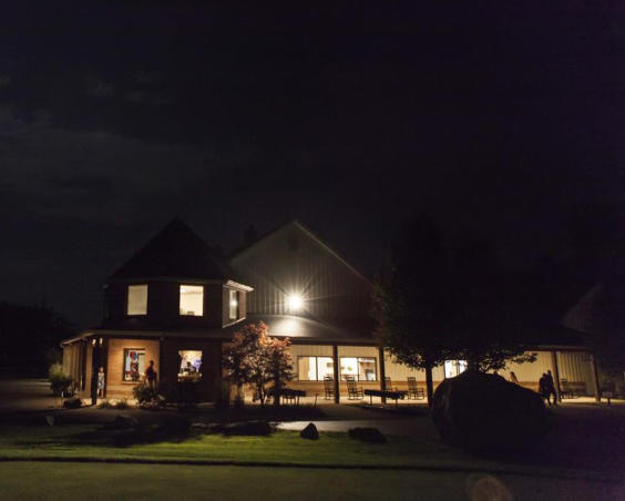 Deer Creek Reception Building at Night