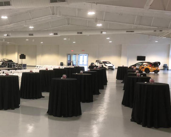 Top Eliminator Club at Lucas Oil Raceway - Indoor Set Up with Dragsters