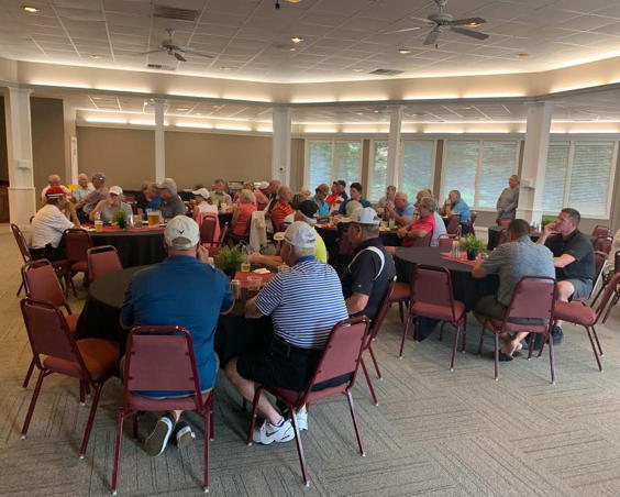 Banquet Room With Golfers - Prestwick Country Club