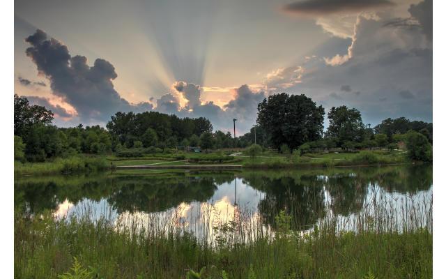 Armstrong Park Dusk Pond
