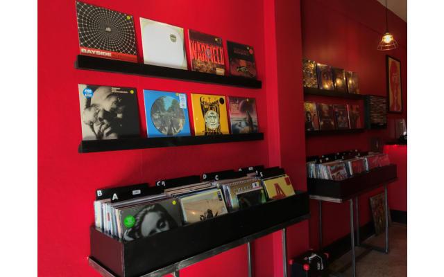 Black Wax Records inside