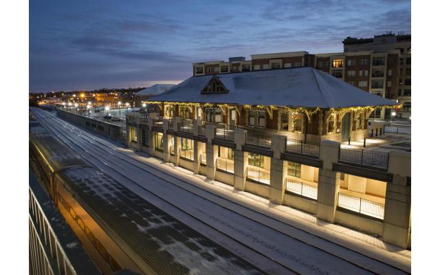 Depot and Train Tracks