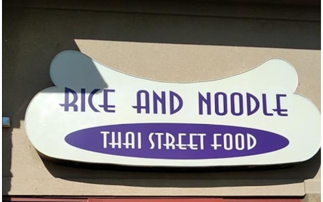 Rice and Noodle Thai Street Food