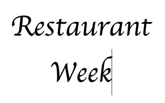 Restaurant Week Test