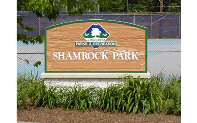 Shamrock Park Sign