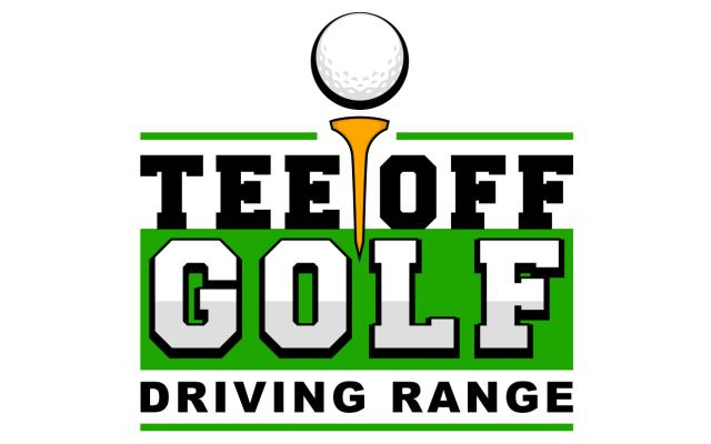 Tee Off Golf Driving Range Logo