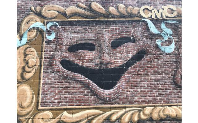 Trompe L'Oeil Drama Masks
