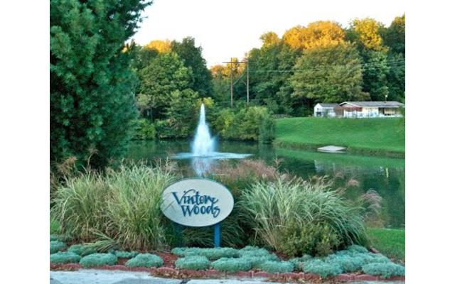 Vinton Woods Clubhouse Fountain