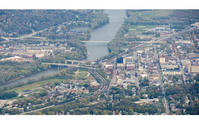 Wabash River Aerial