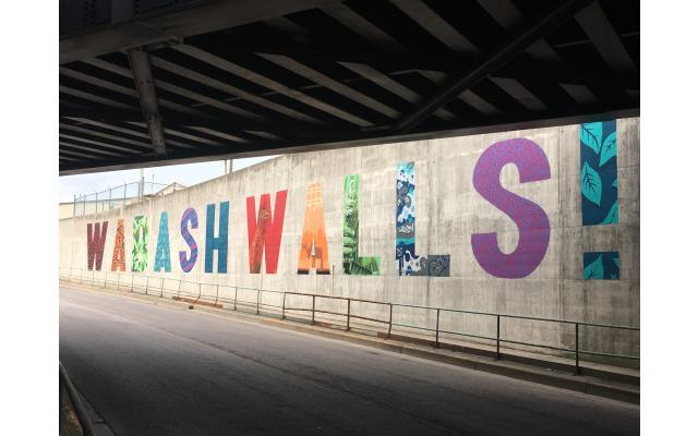 Wabash Walls Name on Wall