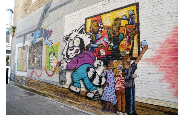 Art Gallery Alley and Alleypalooza Murals