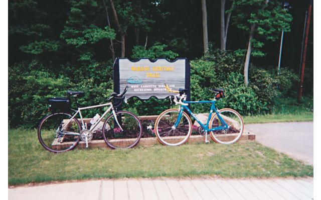 Wabash Heritage Trail Bikes Sign