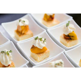 Contemporary outdoor Park City wedding dessert
