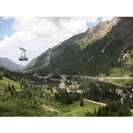 Snowbird Tram in Summer