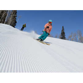 Groomed-to-perfection slopes