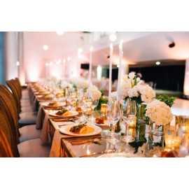 Elegant food in an elegant setting