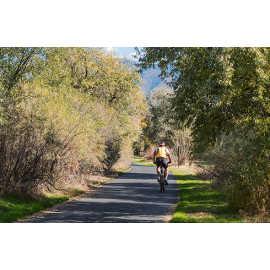 Biking on the Jordan River Parkway, photo by Kyle Jenkins