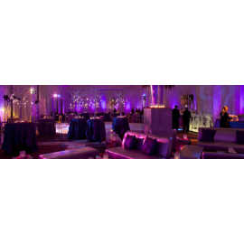 Uplighting, mood and ambient lighting for Gala