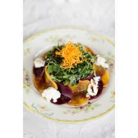 Arugula and Sliced Beet Salad