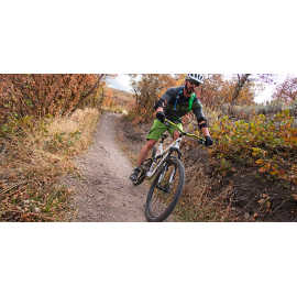 Riding the Corner Canyon trail system, photo by Kyle Jenkins