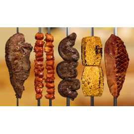 Grilled meats at Rodizio