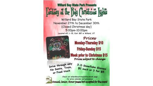 Willard Bay Christmas Lights 2020 Hours 2020 Fantasy at the Bay Christmas Lights | Willard, UT 84340
