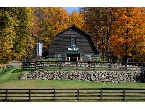 Exterior shot of barn