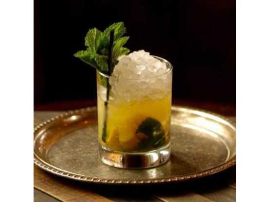 Hamlet and Ghost specialty drink with mint