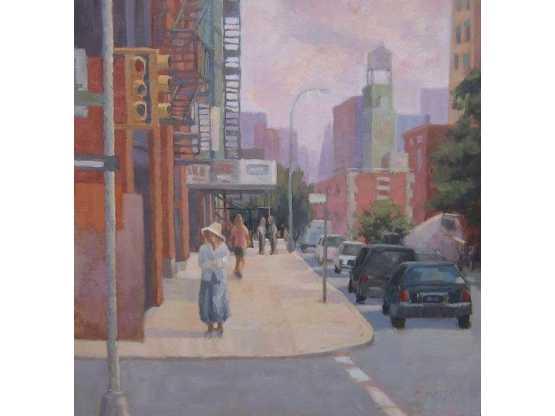 Eden Compton Studio woman in bonnet street scene