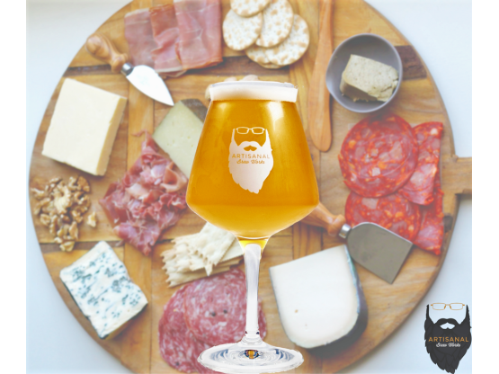 Artisnal Brew Works Beer with cheese board