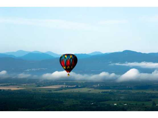 Saratoga Balloon and BBQ Festival balloon in mountains