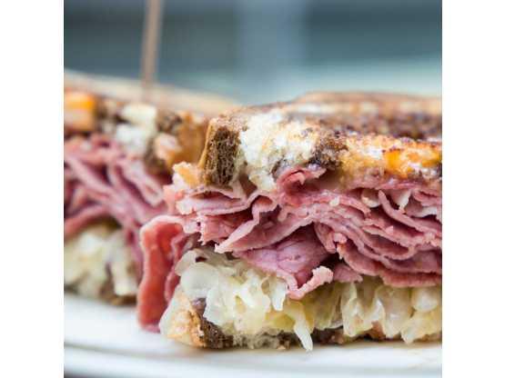 Saratoga's Broadway Deli pastrami sandwich